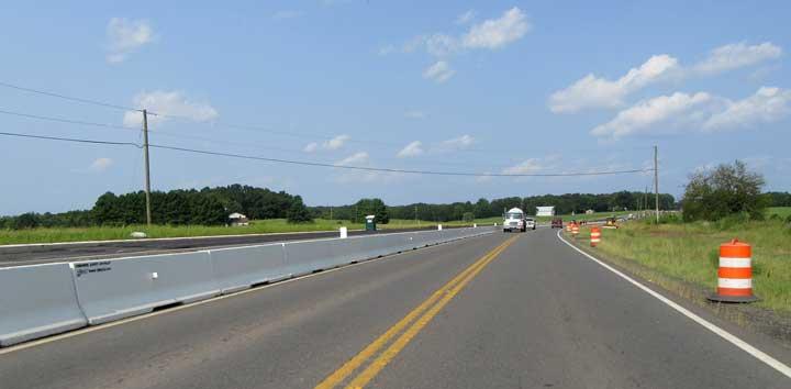 J J Hooks white barrier Smith Midland Nokesville route 28