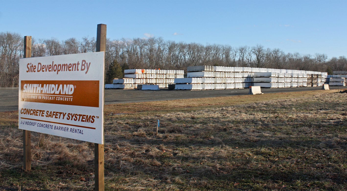 Concrete Safety Systems storage yard