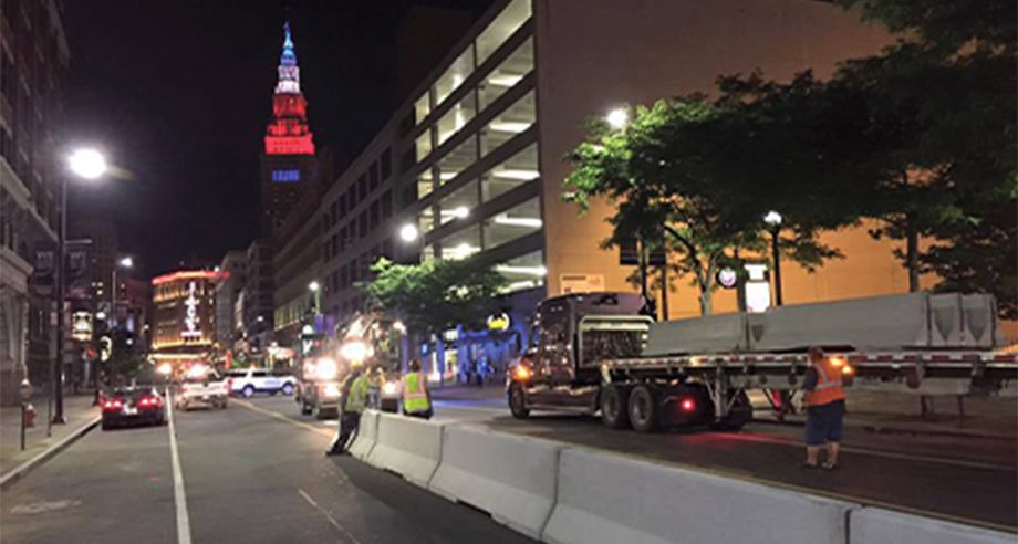 Barriers at the Cleveland RNC