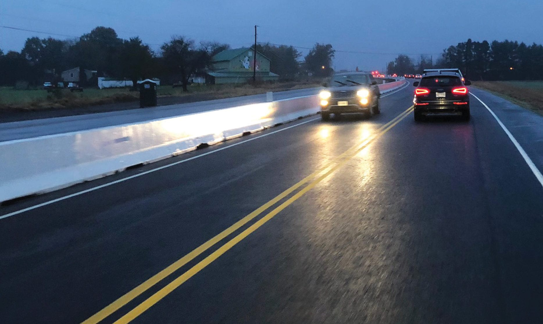 Concrete Safety Systems used on Route 28