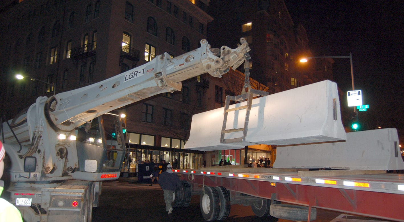 Concrete Safety Systems delivering barriers