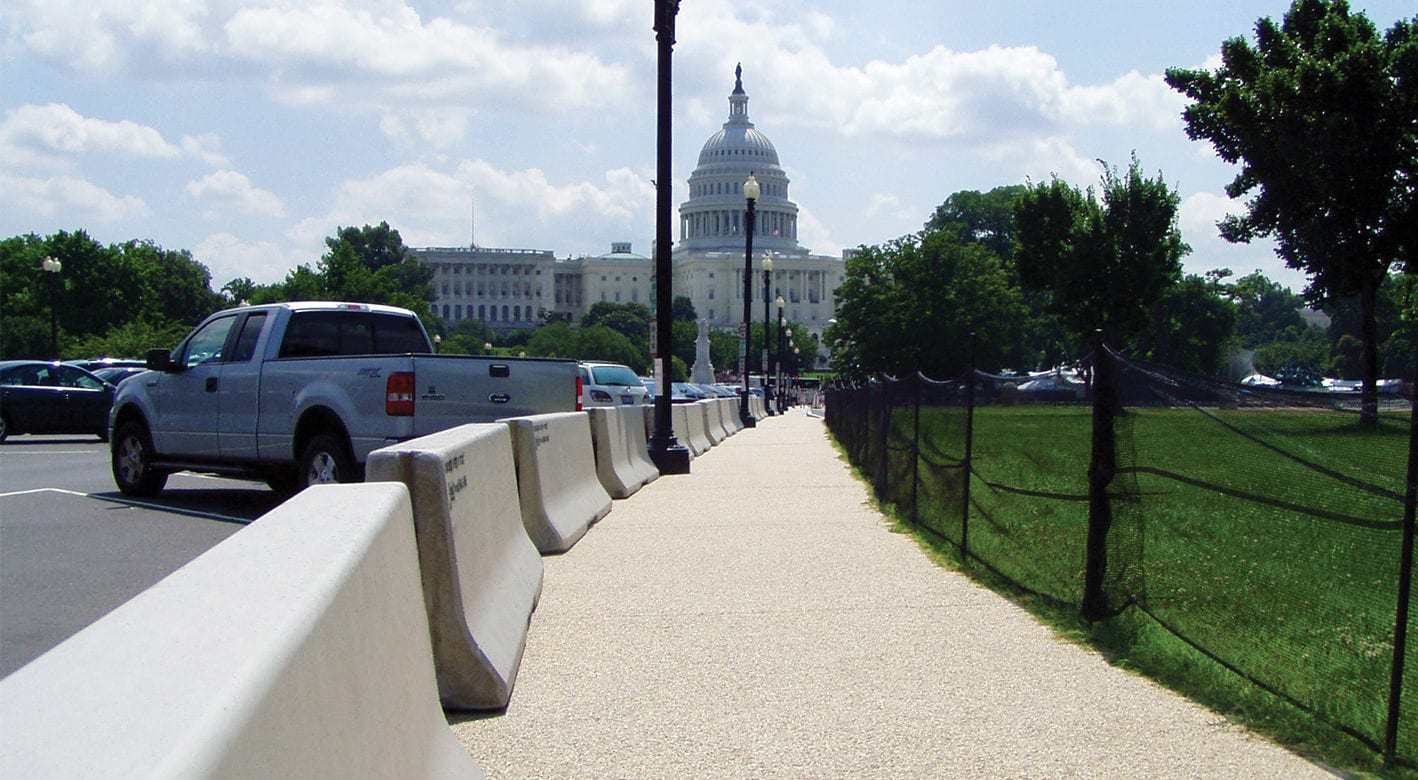 Pedestrian barriers for July 4th Celebration in Washington, D.C.